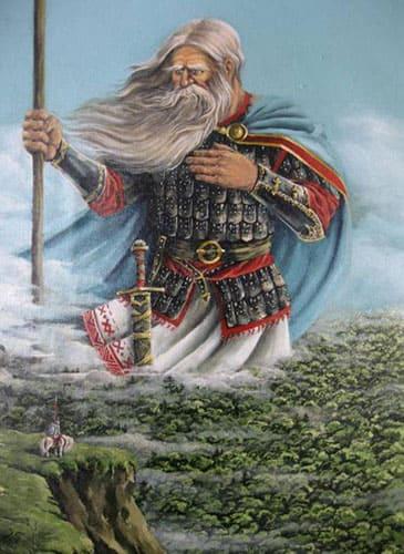 Богатырь Святогор, иллюстрация