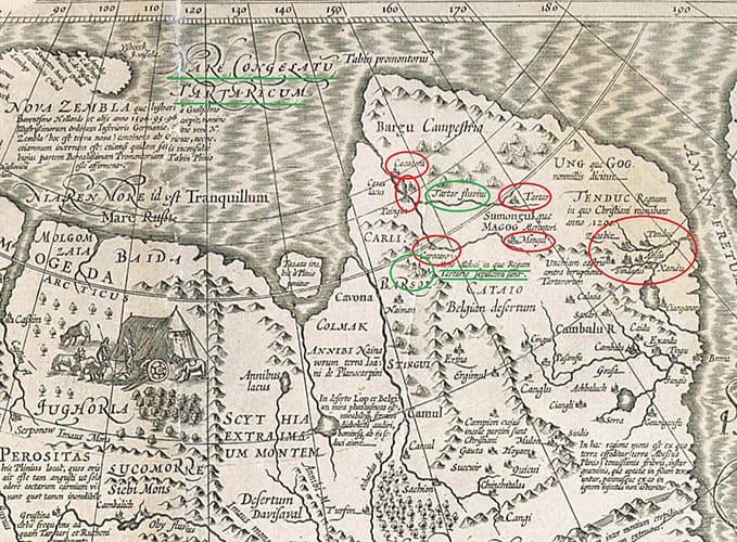 Древняя карта Колымы и Дальнего Востока