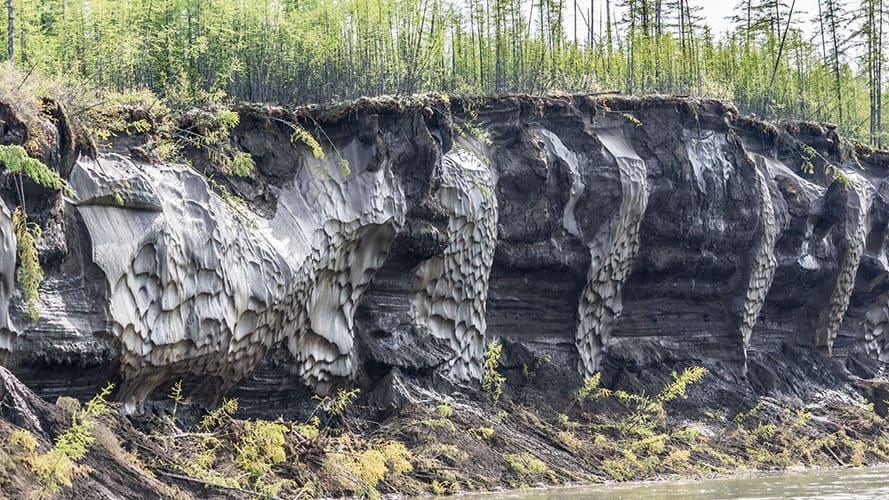 Река Колыма, вечная мерзлота