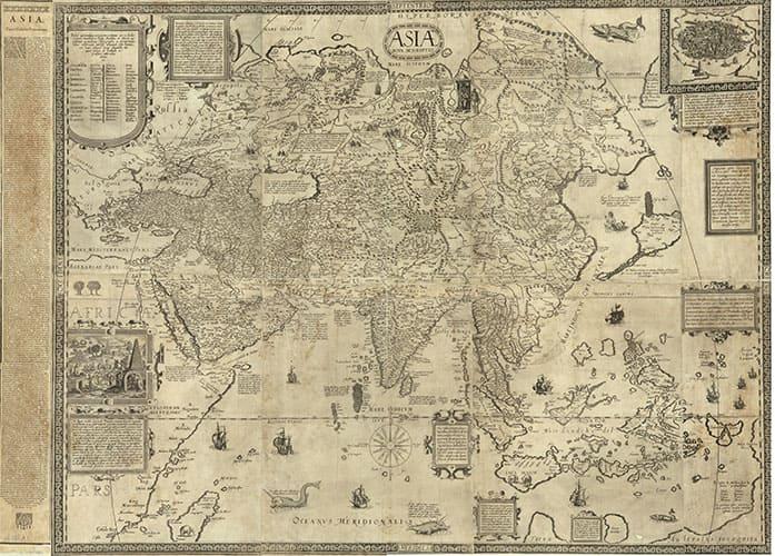 Карта Азии Даниэля Келлера 1590 гг