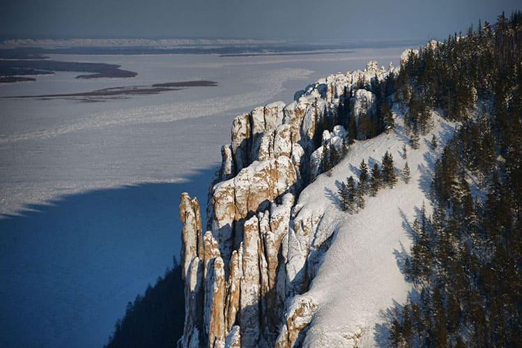 Лена и Ленские столбы зимой