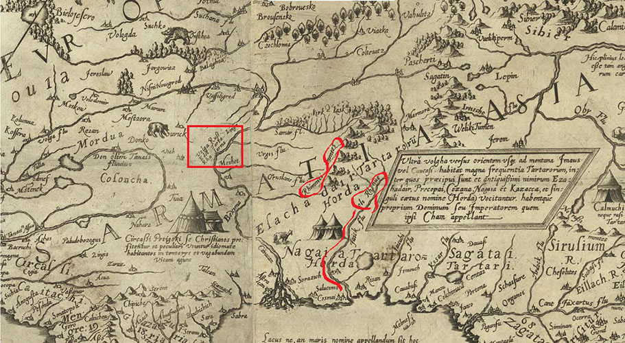 Карта Сарматии Даниэля Келлера
