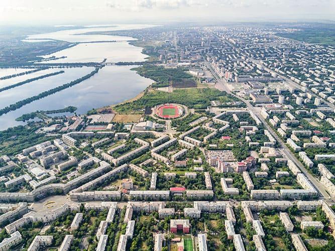 Магнитогорск и река Урал